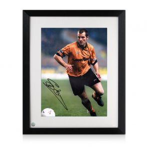 Steve Bull Signed Wolves Photo Framed