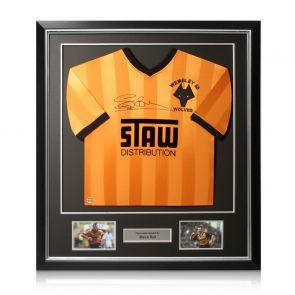 Steve Bull Signed Wolves 1988 Shirt. Deluxe Frame
