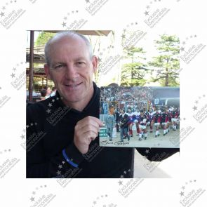 Steve Coppell Signed And Framed Photo: Leading Crystal Palace Out At Wembley
