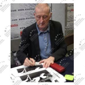 Steve Davis And Dennis Taylor Signed Snooker Photo: 1985 World Championship. Deluxe Frame