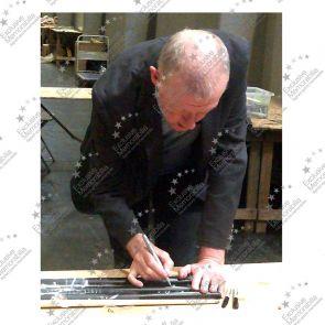 Steve Davis And Dennis Taylor Signed Snooker Cue. Framed
