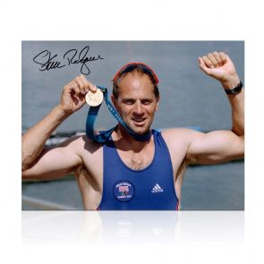 Steve Redgrave Signed Olympics Rowing Photo: Sydney Gold Medal. In Gift Box