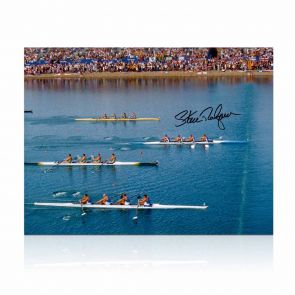 Sir Steve Redgrave Signed Photo: Sydney Photo Finish. In Gift Box