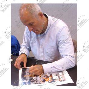 Steve Bull Signed Wolves Photo: Club Legend. Deluxe Frame