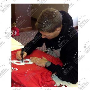 Steven Gerrard Signed Liverpool Home Shirt 2012-13