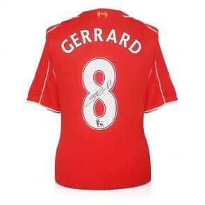 Signed Steven Gerrard Liverpool Jersey