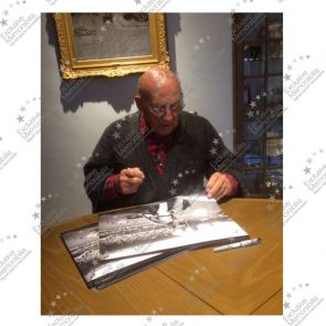 Stirling Moss Signed Formula One Photo: Italian Grand Prix. Damaged