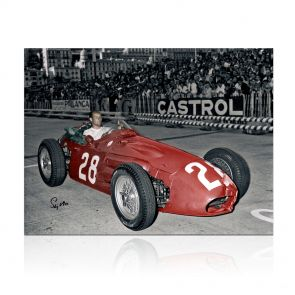 Stirling Moss Signed Formula One Photo: Monaco Winner. In Gift Box