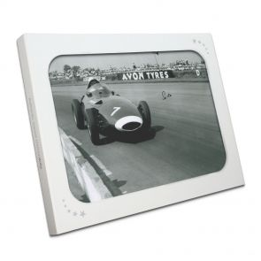 Stirling Moss Signed Formula One Photo: British Grand Prix In Gift Box