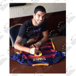 Luis Suarez Signed Barcelona 2015-16 Football Shirt