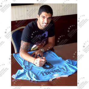 Luis Suarez Signed Uruguay Football Shirt
