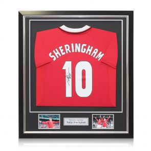 Framed Teddy Sheringham Signed Man United Shirt