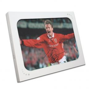 Teddy Sheringham Signed Photo in Gift Box