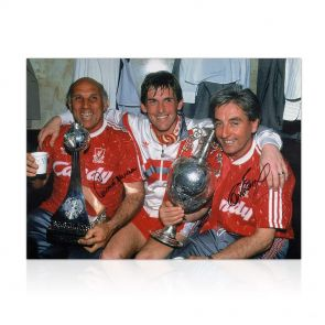 Roy Evans And Ronnie Moran Signed Liverpool Photo: The Boot Room In Gift Box