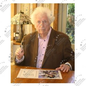 Tom Baker Signed Dr Who Poster In Deluxe Frame