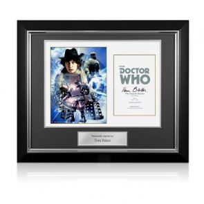 Tom Baker Dr Who Signed Poster. Deluxe Frame