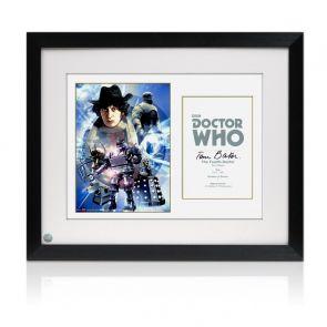 Tom Baker Dr Who Signed Poster. Framed