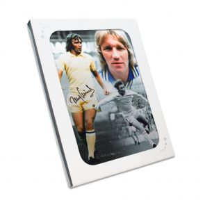 Signed Tony Currie Leeds United Photo Gift Box