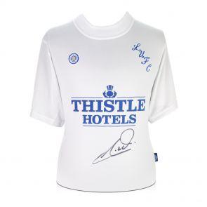 Tony Yeboah Signed Leeds United Football Shirt In Gift Box