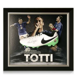 Framed Francesco Totti Signed Football Boots