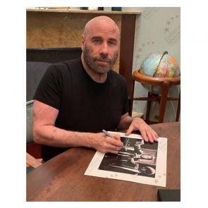 John Travolta Pulp Fiction Signed Poster: Divine Intervention. Deluxe Frame