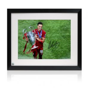 Trent Alexander-Arnold Signed Liverpool Photo: Champions League Celebration Framed