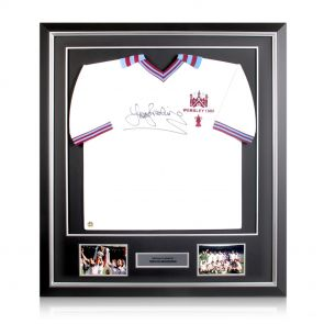 Framed And Signed Trevor Brooking Shirt