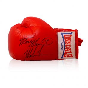 Frank Bruno And Mike Tyson Signed Lonsdale Boxing Glove In Gift Box