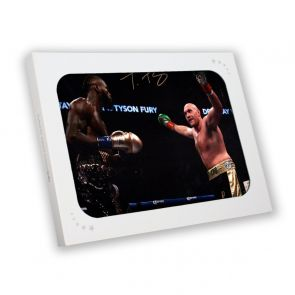 Tyson Fury Signed Photo: Fighting Deontay Wilder In Gift Box