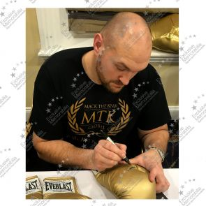 Tyson Fury Signed Gold Boxing Glove