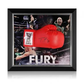 Tyson Fury Signed Red Boxing Glove Framed