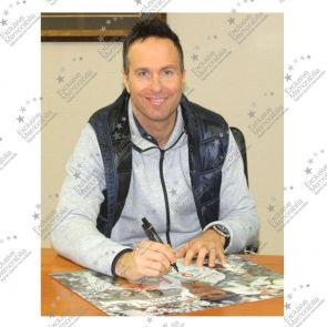 Michael Vaughan Signed Cricket Photo: The Ashes 2005
