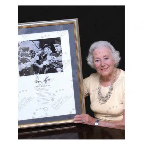 Dame Vera Lynn Signed We'll Meet Again Print. Deluxe Framed