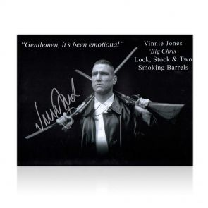 Vinnie Jones Signed Lock, Stock And Two Smoking Barrels Photo In Gift Box