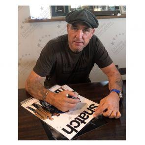 Vinnie Jones Signed Snatch Poster. Framed