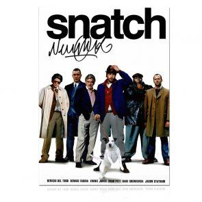 Vinnie Jones Signed Snatch Poster