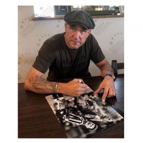 Vinnie Jones and Paul Gascoigne Dual Signed Photo. In Gift Box