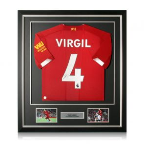 Virgil Van Dijk Signed Liverpool Shirt. Framed