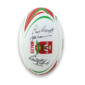 Wales Signed Rugby Ball