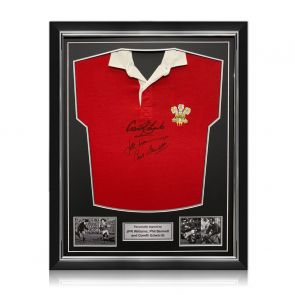 Wales Rugby Shirt Signed By Gareth Edwards, JPR Williams And Phil Bennett. Superior Frame