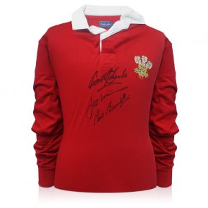 Wales Rugby Shirt Signed By Gareth Edwards, JPR Williams And Phil Bennett