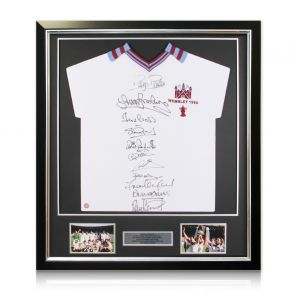Framed Signed West Ham 1980 Shirt