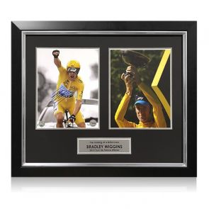 Bradley Wiggins Signed Tour De France Photo