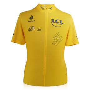 Bradley Wiggins Signed Tour De France 2012 Jersey. In Gift Box
