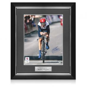 Bradley Wiggins Signed Olympics Photo: Individual Time Trial Gold