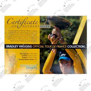 Bradley Wiggins Signed Cycling  Photo: 2012 Tour de France Winner. Framed