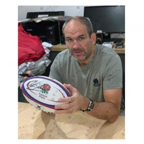 Martin Johnson & Jonny Wilkinson Signed England Rugby Ball. Display Case