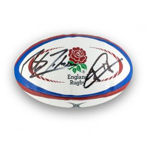 Jonny Wilkinson And Martin Johnson Signed England Rugby Ball
