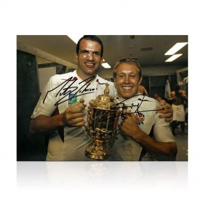 Jonny Wilkinson And Martin Johnson Signed 2003 Rugby World Cup Photo In Gift Box