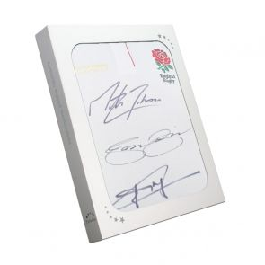 Jonny Wilkinson And Martin Johnson Signed England Rugby Shirt. In Gift Box
